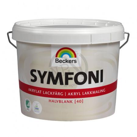 Lackfärg Symfoni Akrylat Halvblank Vit 1L