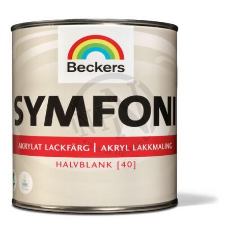 Lackfärg symfoni halvblank v vit 0,5l