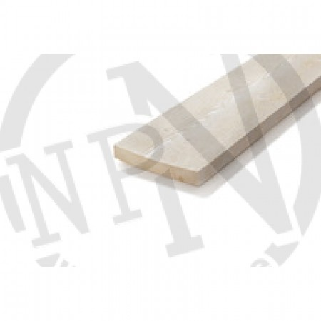 Bräda 22X195mm Takfotsbräda Gran Grundmålad Vit L=4,8