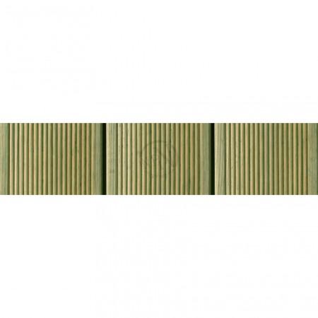 Bryggtrall Grönimpregnerad Rillad 28x120mm Säljs per löpmeter