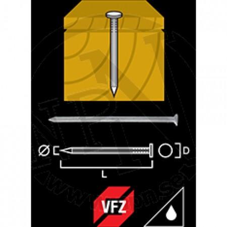 Trådspik Varmförzinkad  2,8x75mm 250st