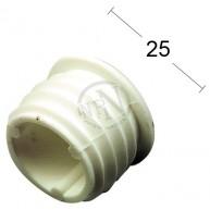 Ändknopp 325 Plast Vit 2st