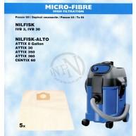 Dammsugarpåse Nilfisk-Alto Attix 3 5-Pack