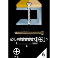 Spånskiva&Sockelskruv Borrspets Trä/Stål 3,9X28MM 500ST