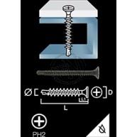 Gipsskruv Borrspets används inomhus för att fästa gipsskivor i stålreglar från 0,7mm till 3,0mm.