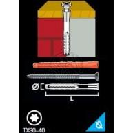 Fasadplugg MQL Med Skruv Försänkt TX30 8X100MM 50ST