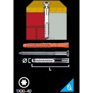 Fasadplugg MQL Med Skruv SB Försänkt TX30 8X80MM 3ST