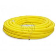 Kabelrör PEH 50/42 Gul Korrugerat Med Dragtråd 50M
