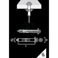 Metallexpander Elförzinkad Gips/Trä 8mm 100st