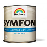 Lackfärg Symfoni Blank 1 Vit 0 0,5L