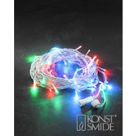 LED Ljusslinga 50 LED Färgade Lampor Med Transparent Kabel
