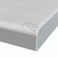 Sidoavslutningslist Aluminium Postformad Höger 610x30mm