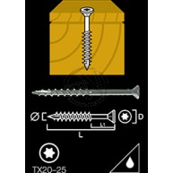 Trallskruv rostfri a4 s-spets tx20 4,2x35mm 250st