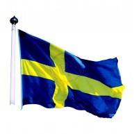 Flagga Sverige 240 cm