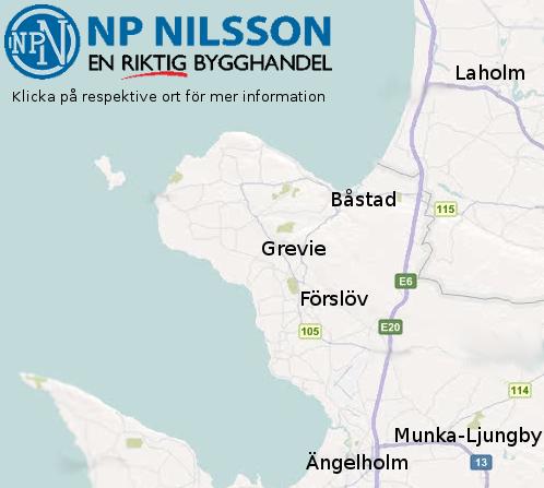 NP Nilssons butiker Bjäre Byggmaterial