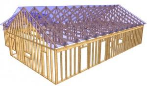 Prefab väggelement trä
