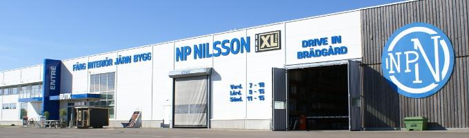 Fasad filial Ängelholm en del av XL-BYGG