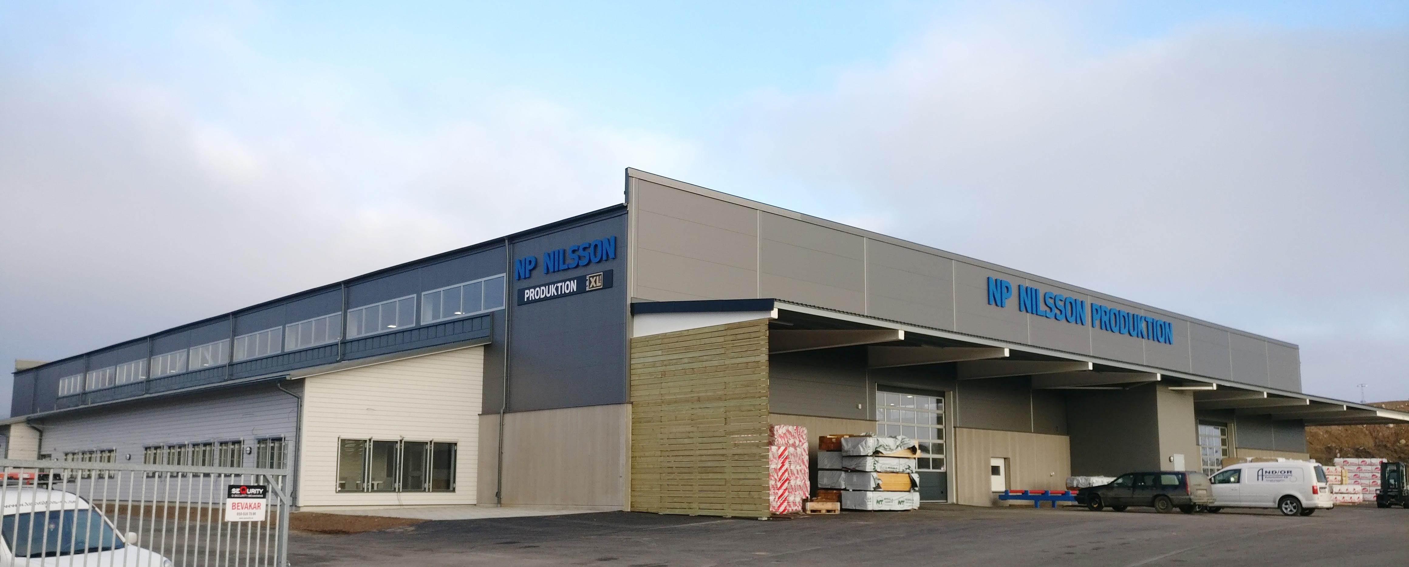 Visar framsidan av Produktionsanläggningen i Vistorp