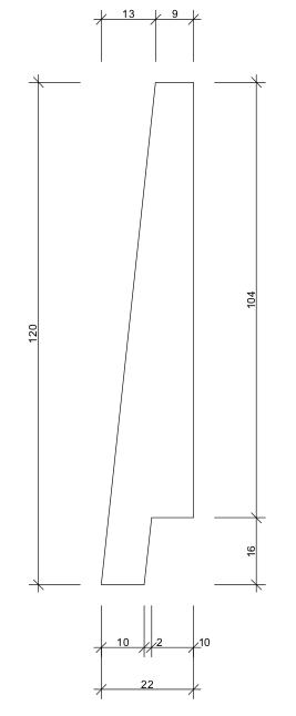 16x120 Fjällpanel mått skiss