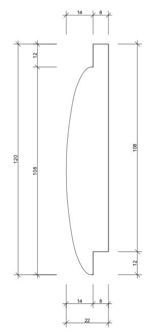 22x120 Stockpanel mått skiss